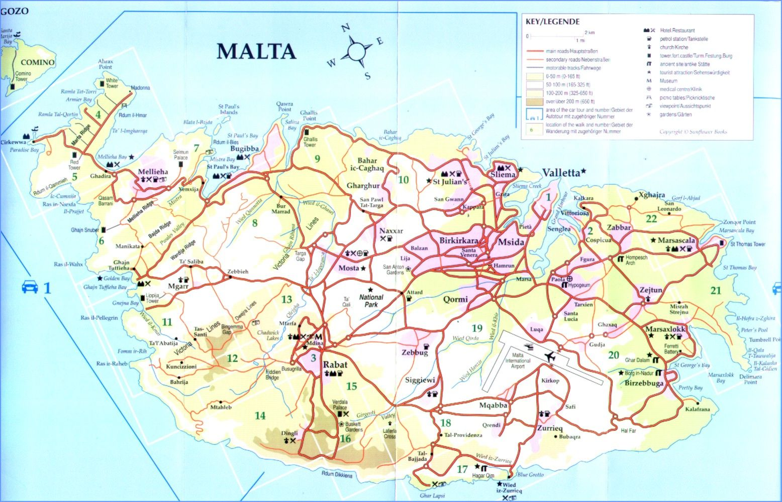Map of malta destinationmalta gumiabroncs Choice Image